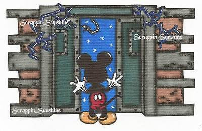 DISNEY TOWER OF TERROR Mickey - Printed Scrapbook Page Paper Piece - SSFFDeb
