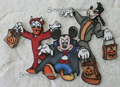 DISNEY Halloween Trio - Printed Scrapbook Page Paper Piece