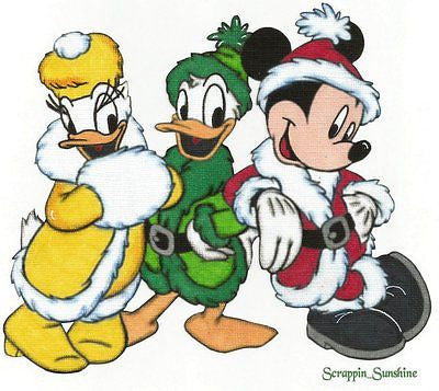 DISNEY Christmas Trio - Printed Scrapbook Page Paper Piece Piecing