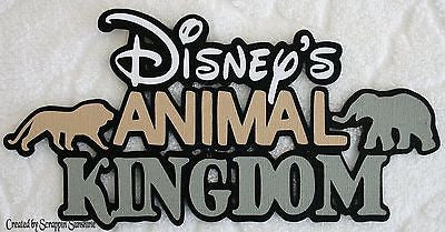 DISNEY ANIMAL KINGDOM - Die Cut Title