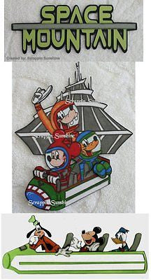 DISNEY SPACE MOUNTAIN -YOU CHOOSE Scrapbook Printed Page Paper Piecing - SSFFDeb