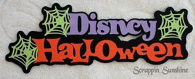 DISNEY HALLOWEEN Die Cut Title