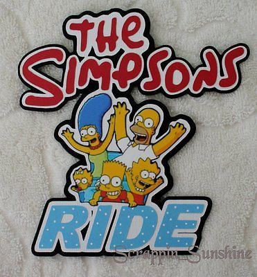 UNIVERSAL Islands of Adventure - Simpsons Ride Scrapbook Page Die Cut Title