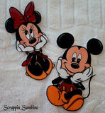 DISNEY MICKEY or MINNIE - You Choose Scrapbook Page Printed Paper Piece