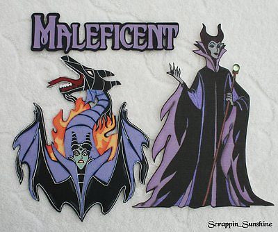 DISNEY MALEFICENT - YOU CHOOSE - Printed Scrapbook Page Paper Piece