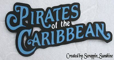 DISNEY Pirates of the Caribbean Die Cut Title