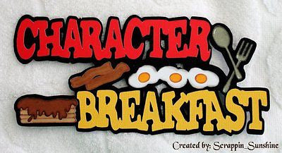 DISNEY CHARACTER BREAKFAST - Die Cut Title