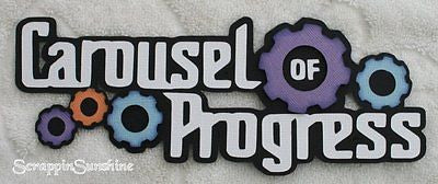 DISNEY Carousel of Progress - Die Cut Title