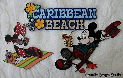 DISNEY CARIBBEAN BEACH - YOU CHOOSE Scrapbook Page Printed Paper Piece