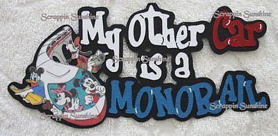 DISNEY Other Car is MONORAIL Die Cut Title