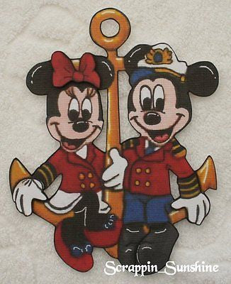 DISNEY Anchors Aweigh Mickey Minnie - Scrapbook Printed Paper Piece - SSFFDeb