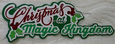 DISNEY CHRISTMAS AT MAGIC KINGDOM Die Cut Title