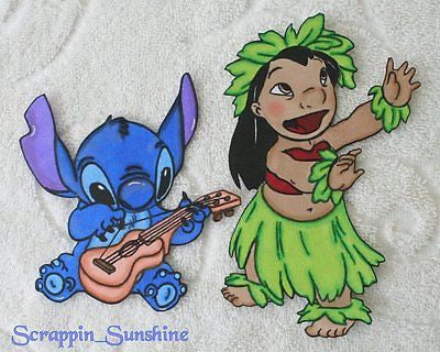 DISNEY Lilo & Stitch - Printed Scrapbook Page Paper Piece
