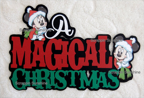 DISNEY - A MAGICAL CHRISTMAS Die Cut Title