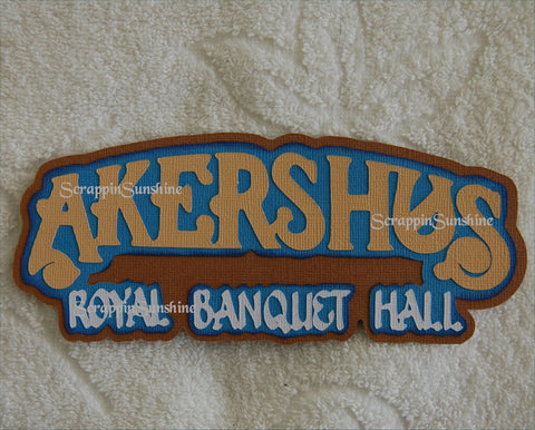 Disney Akershus Royal Banquet Hall Dining Die Cut Title for Scrapbook Pages
