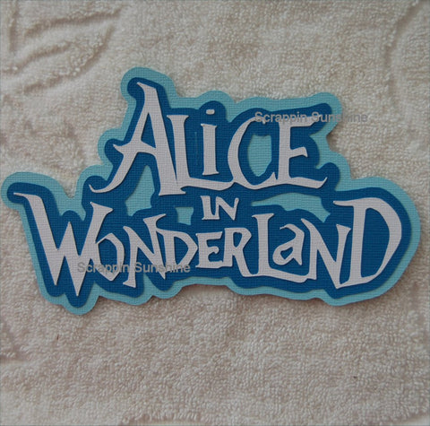 Disney Alice in Wonderland Die Cut Title