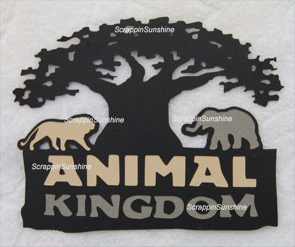 DISNEY ANIMAL KINGDOM w/ Tree DIE CUT TITLE