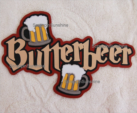 Universal Studios Harry Potter Butterbeer Die Cut Title