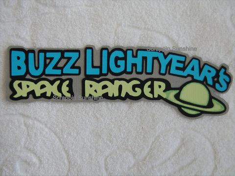 DISNEY Buzz Lightyear Space Ranger Die Cut Title
