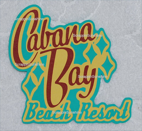 Universal Studios CABANA BAY Beach Resort Die Cut Title