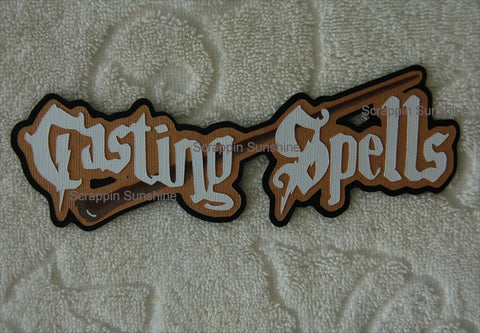 Universal Harry Potter - Casting Spells Die Cut Title