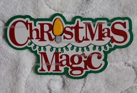 Disney Christmas Magic Die Cut Title for Scrapbook Pages