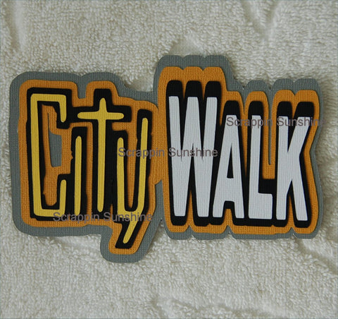 Universal City Walk Die Cut Title