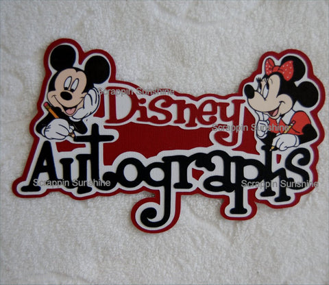 Disney Autographs w/ Mickey & Minnie Die Cut Title