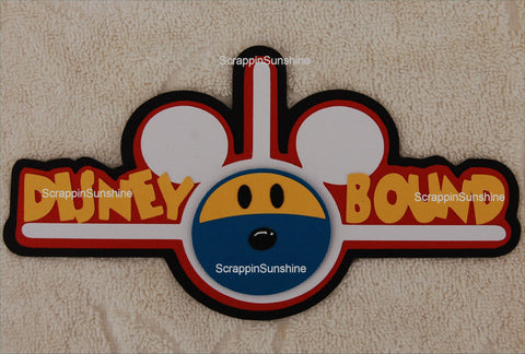 DISNEY BOUND (Airplane) Die Cut Title Scrapbook Page Paper Piece