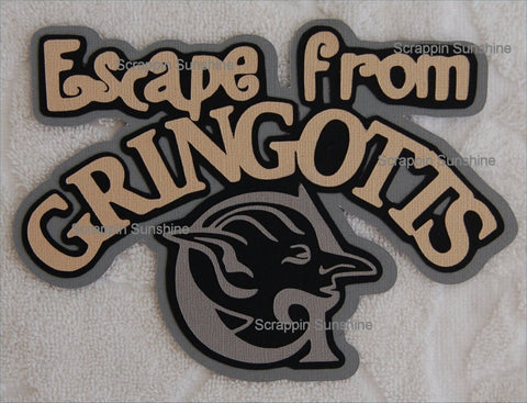 UNIVERSAL STUDIOS - Harry Potter - Escape from Gringotts Die Cut Title