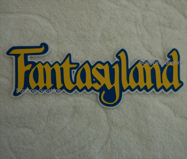 Disney FANTASYLAND Die Cut Title