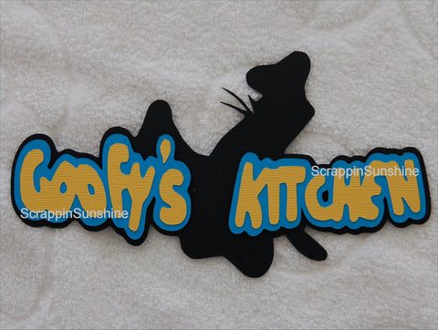 DISNEY GOOFY'S KITCHEN Die Cut TITLE for Scrapbook Pages Paper Piecing