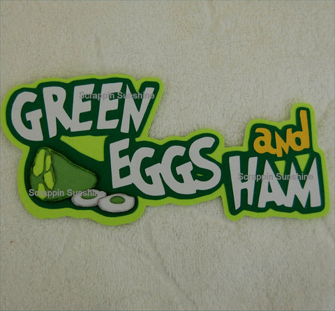 Universal Studios - Dr. Seuss Green Eggs and Ham Die Cut Title