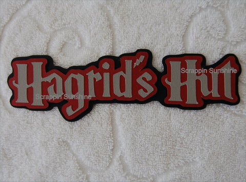 Hagrids Hut - Harry Potter Universal Studios Die Cut Title for Scrapbook Pages