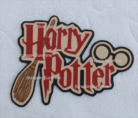 Universal Studios - Harry Potter w/ Broom Die Cut Scrapbook Title