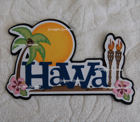Hawaii Die Cut Title for Scrapbook Pages
