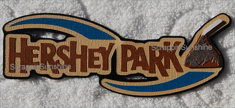 Hershey Park Theme Park Travel Vacation Die Cut Title for Scrapbook Pages