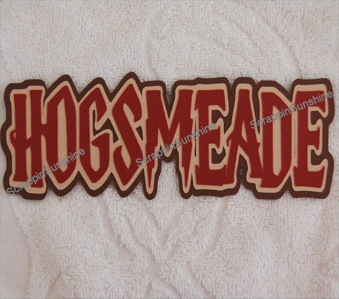 Universal Studios Harry Potter Hogsmeade Die Cut Title