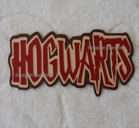 Hogwarts - Harry Potter Universal Studios Die Cut Title for Scrapbook Pages