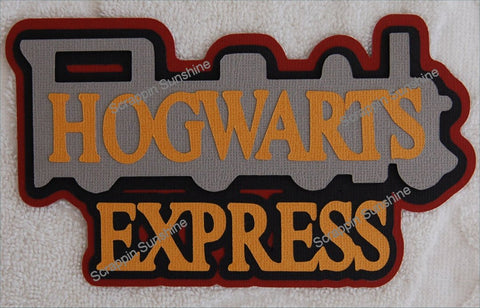 Universal Studios - Harry Potter - Hogwarts Express Train Die Cut Title