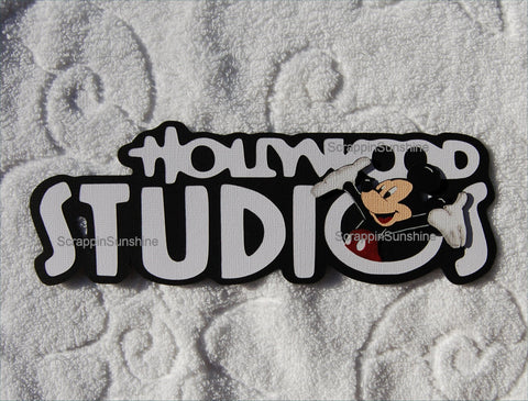DISNEY HOLLYWOOD STUDIOS w/ Mickey Die Cut Title for Scrapbook Pages