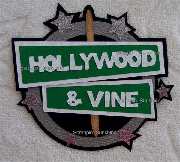 Disney Hollywood & Vine Dining Restaurant Die Cut Scrapbook Title - SSFF