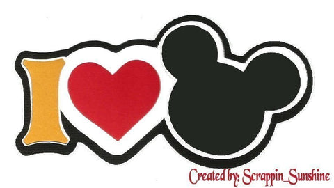 DISNEY - I LOVE MICKEY Die Cut Title