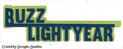 DISNEY BUZZ LIGHTYEAR Die Cut Title