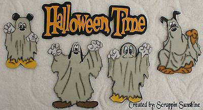 DISNEY HALLOWEEN TIME - YOU CHOOSE - Premade Scrapbook Page Paper Piecing Pieces