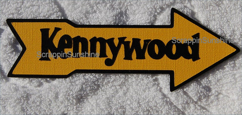 Kennywood Amusment Park Travel Vacation Die Cut Title for Scrapbook Pages