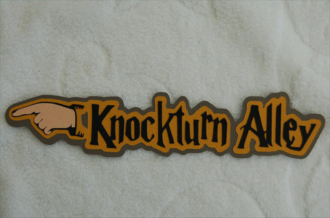 Knockturn Alley - Harry Potter Universal Studios Die Cut Title for Scrapbook Pages