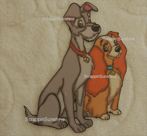 DISNEY Lady & the Tramp - Printed Paper Piece for Scrapbook Pages