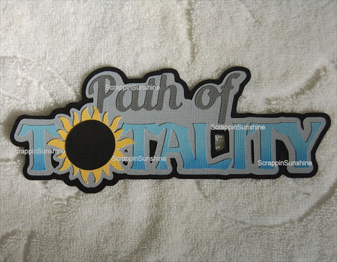 SOLAR ECLIPSE Path of Totality Die Cut Title for Scrapbook Page