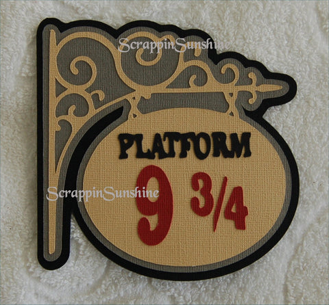 Harry Potter Platform 9 3/4 Universal Studios Die Cut Title for Scrapbook Pages